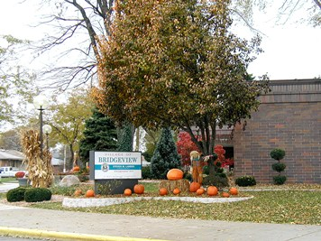 Fall Village sign